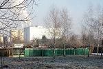 """Blick auf das Industriegelände, """"Spanplattenwerk Gotha"""""""